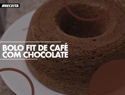 BOLO FIT DE CAFÉ COM CHOCOLATE